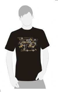 A Minha Vit�ria tem Sabor de Mel - Camiseta  Damares - Cor  Preta