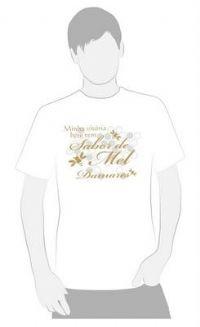 A Minha Vit�ria tem Sabor de Mel - Camiseta Damares - Cor Branca