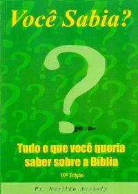 Você Sabia ? - Pastor Nerildo Accioly