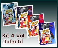 Kit Xaropinho -  Igreja Infantil Vol 1. 2. 3. e 4.