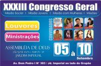 XXXIII Congresso Geral - Miss�o Jovem, Miss�o Social, Miss�o Mulher