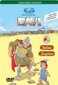 DVD Gibi do Cristão - Davi - Fugitivo e Golias