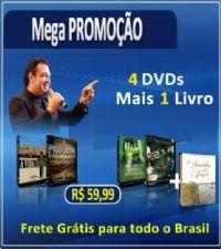 KIT Com 4 dvds + mais um livro - Pr Marco Feliciano