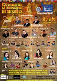 5� Congresso Internacional de Miss�es - A.M.E Luz das Na��es