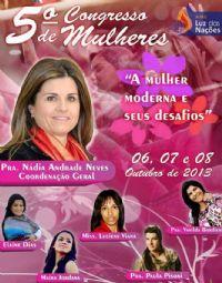5º Congresso de Mulheres - Pra Vanilda Bordieri - A.M.E Luz das Nações