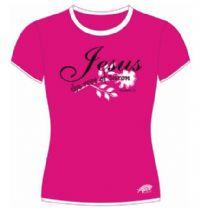 Camisetas Paz - Jesus a rosa de Saron